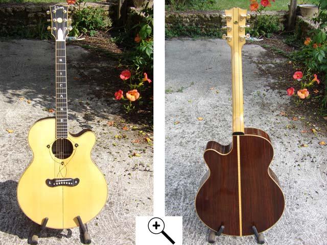 Guitare electro-accoustique type jumbo sj250