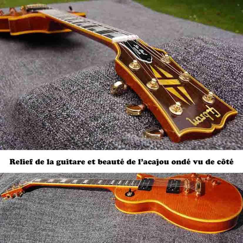 Photos de différentes vues de côtés de la guitare GB son